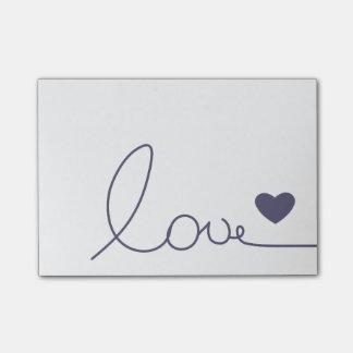Amor de Purple Heart Notas Post-it®