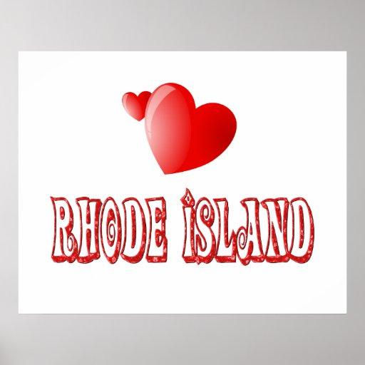 Amor de Rhode Island Impresiones