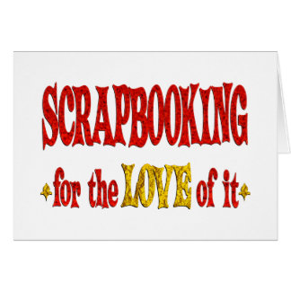 Amor de Scrapbooking Tarjeta