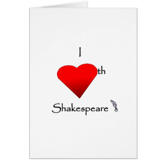 Amor de Shakespeare Tarjeta