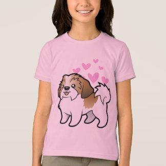 Amor de Shih Tzu (perrito cortado) Camiseta
