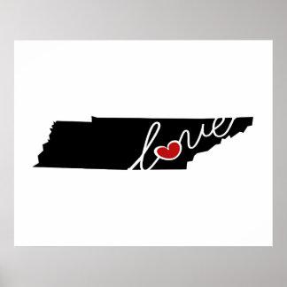 ¡Amor de Tennessee!  Regalos para los amantes del Poster