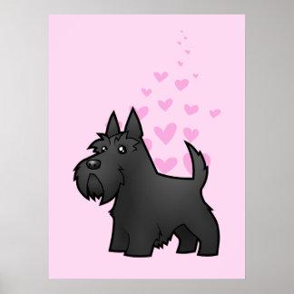 Amor de Terrier del escocés Póster