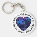 Amor de un niño con llavero del autismo