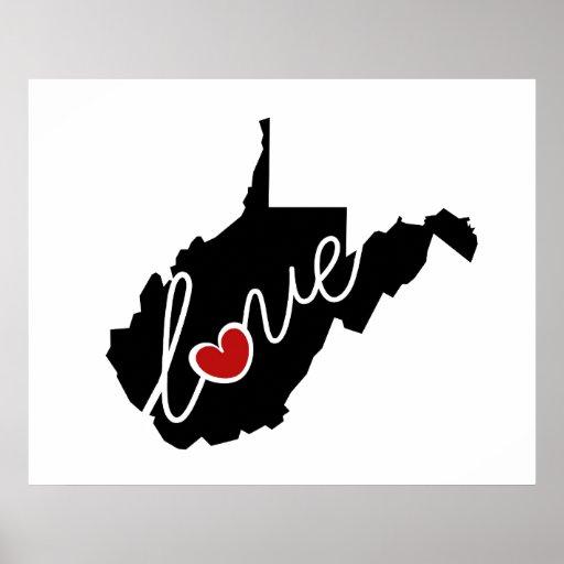 ¡Amor de Virginia Occidental!  Regalos para los Impresiones