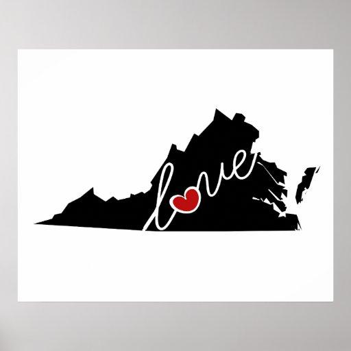 ¡Amor de Virginia!  Regalos para los amantes del Impresiones