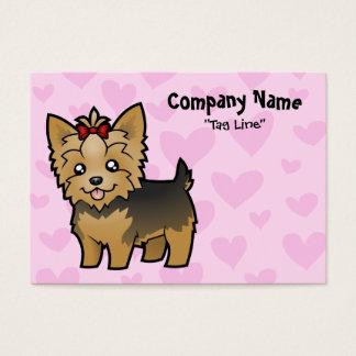 Amor de Yorkshire Terrier (pelo corto con el arco) Tarjeta De Negocios