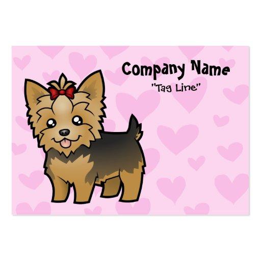 Amor de Yorkshire Terrier (pelo corto con el arco) Tarjeta Personal