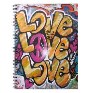 Amor del amor del amor libretas espirales