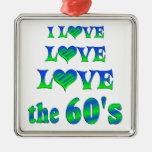 Amor del amor los años 60 adorno