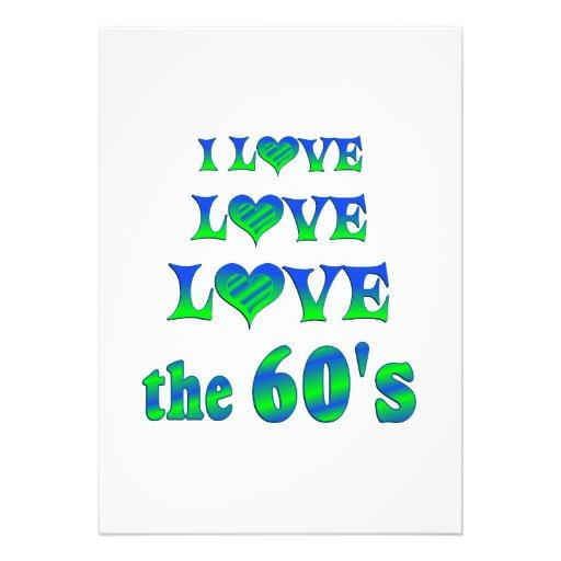 Amor del amor los años 60 invitacion personalizada