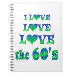 Amor del amor los años 60 libreta espiral