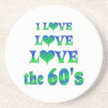 Amor del amor los años 60 posavasos diseño