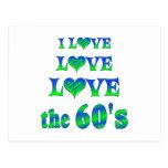 Amor del amor los años 60 tarjetas postales