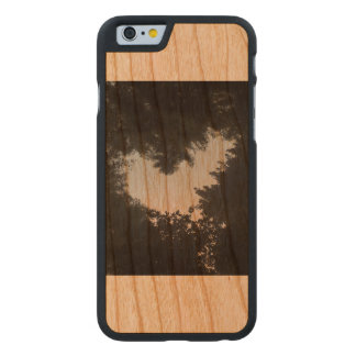 Amor del árbol funda de cerezo para iPhone 6 de carved