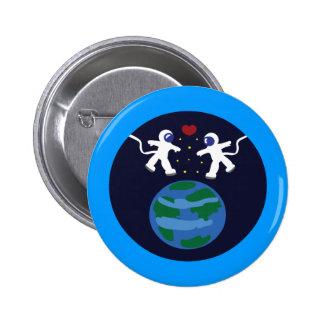 Amor del astronauta pins
