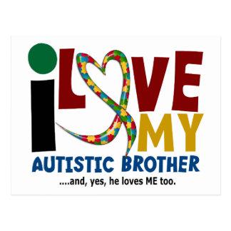 Amor del AUTISMO I mi Brother autístico 2 Postal