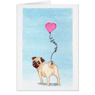 amor del barro amasado tarjeta de felicitación