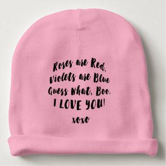 Amor del bebé usted gorra del abucheo gorrito para bebe