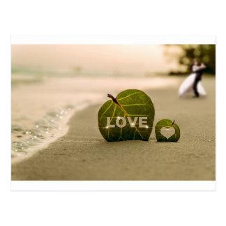 Amor del boda postal