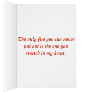Amor del bombero tarjeta