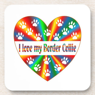 Amor del border collie posavasos