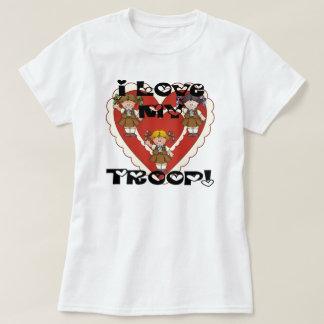 Amor del brownie I mis corazones de la tropa Camiseta