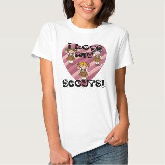 Amor del brownie I mis corazones de los Camisas