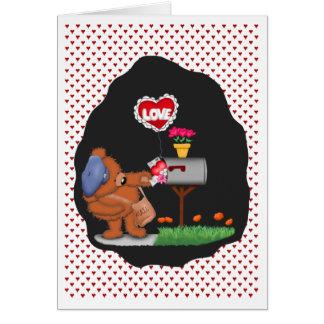 Amor del buzón ningún texto dentro tarjeta de felicitación