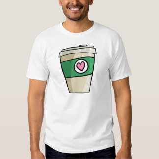 Amor del café camiseta