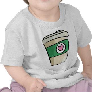 Amor del café camisetas