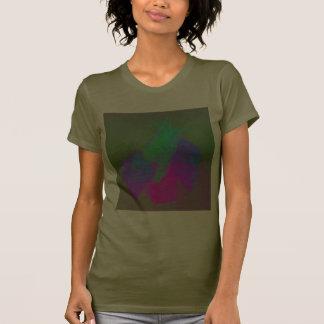 Amor del caracol en verde rosado y púrpura camisetas