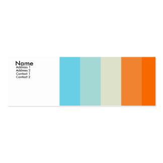 Amor del color tarjetas de visita mini