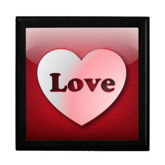 Amor del corazón del icono de Giftbox Caja De Joyas