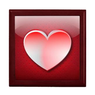 Amor del corazón del icono de Giftbox Caja De Recuerdo
