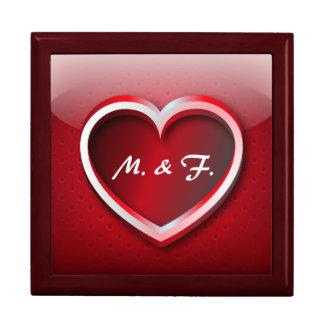 Amor del corazón del icono de Giftbox Cajas De Joyas