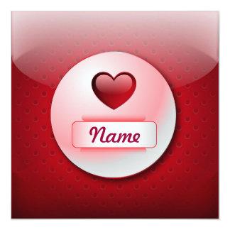 Amor del corazón del icono de la invitación invitación 13,3 cm x 13,3cm