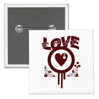 Amor del corazón sangrante. Estilo enrrollado del  Pins