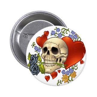 Amor del cráneo - cráneos, rosas y corazones por e pins