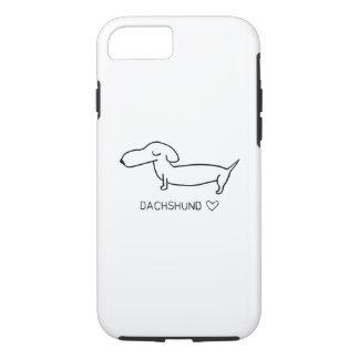 Amor del Dachshund Funda Para iPhone 8/7