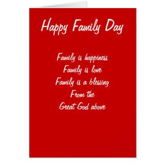 Amor del día de la familia tarjeton