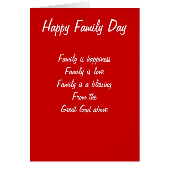 Amor del día de la familia tarjeta de felicitación