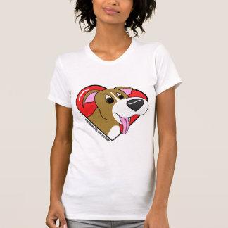 Amor del dibujo animado I mi camiseta de las