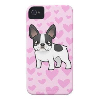 Amor del dogo francés funda para iPhone 4