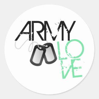 Amor del ejército pegatina redonda