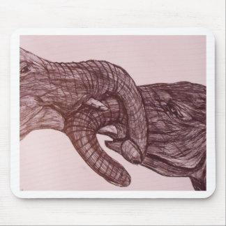 Amor del elefante alfombrilla de ratón