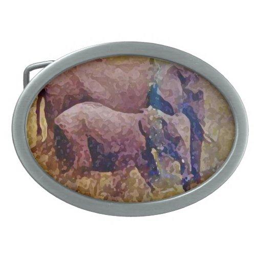 Amor del elefante hebilla de cinturon