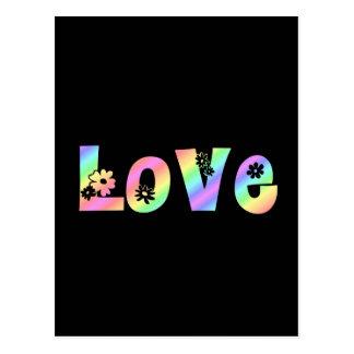 Amor del Hippie Tarjetas Postales
