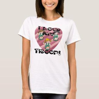 Amor del joven I mi corazón de la tropa Camiseta