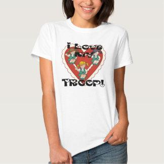 Amor del joven I mi corazón de la tropa Camisetas
